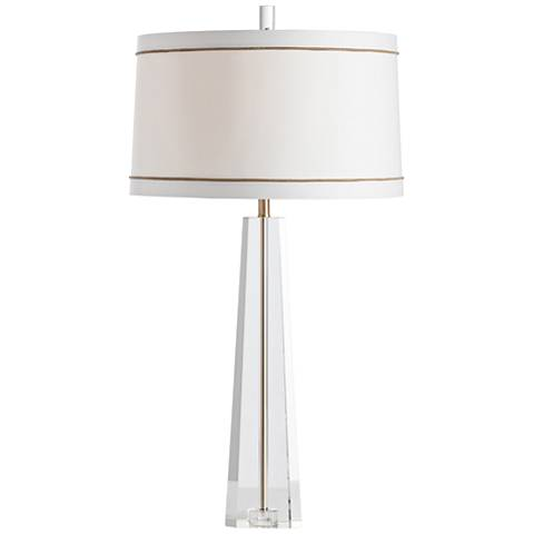 Arteriors Home Grace Clear Crystal and Pale Brass Table Lamp