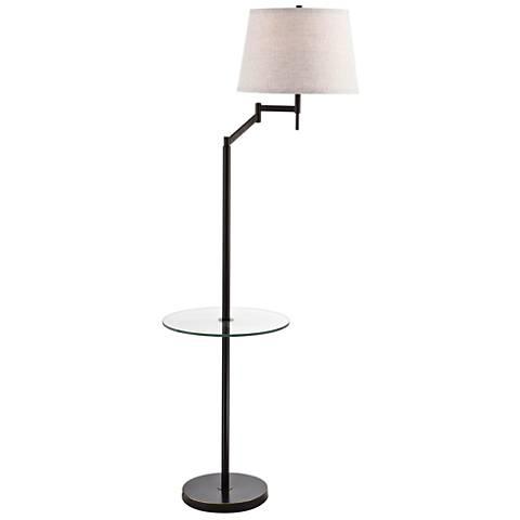 Lite Source Eveleen Dark Bronze Floor Lamp with Tray Table