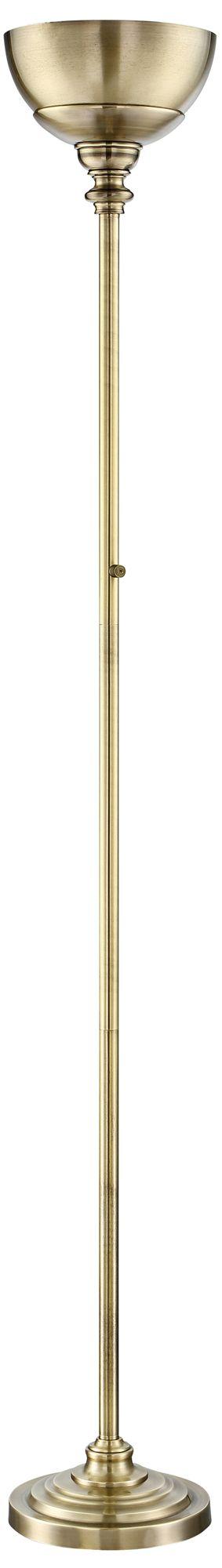 Lite Source Dallon Antique Brass LED Torchiere Floor Lamp