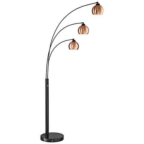 Lite Source Braun Dark Bronze 3-Light Arc Floor Lamp