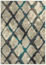 """Highlands 6613A 7'10""""x10'10"""" Gray and Blue Area Rug"""