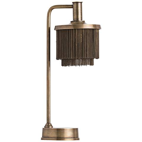 Arteriors Home Gwendolyn Vintage Brass Metal Desk Lamp