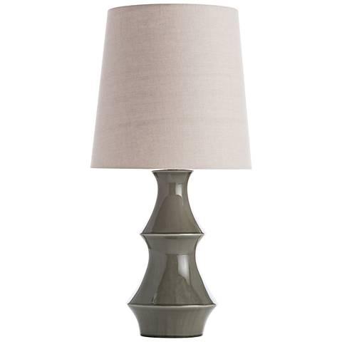 Gabe Vetiver Crackle Glaze Porcelain Table Lamp