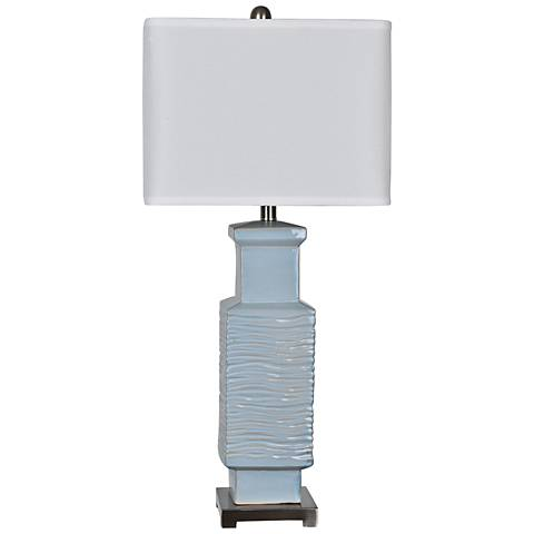 Crestview Collection Pence Blue Gray Ceramic Table Lamp