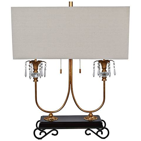 Crestview Collection Adriana Gold and Black Metal Table Lamp