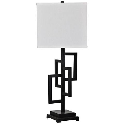 Crestview Collection Wade Black Metal Table Lamp