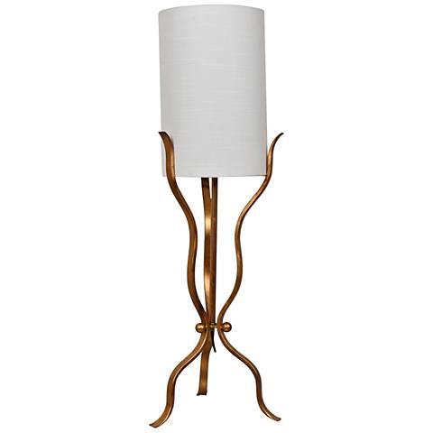 Crestview Collection Xavier Gold Leaf Metal Table Lamp