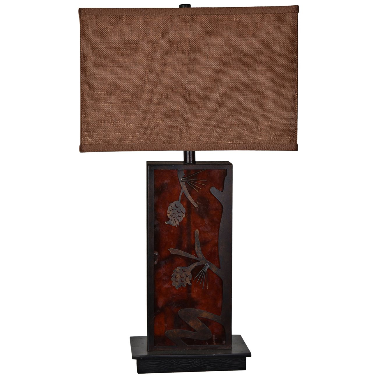 Crestview Collection Rhodes Amber Table Lamp W/ Night Light