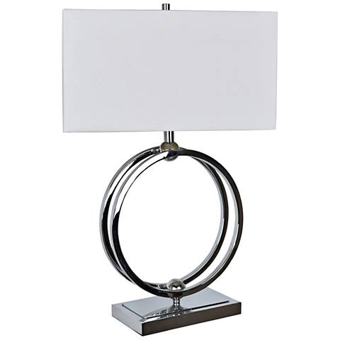 Crestview Collection Neveu Chrome Metal Table Lamp