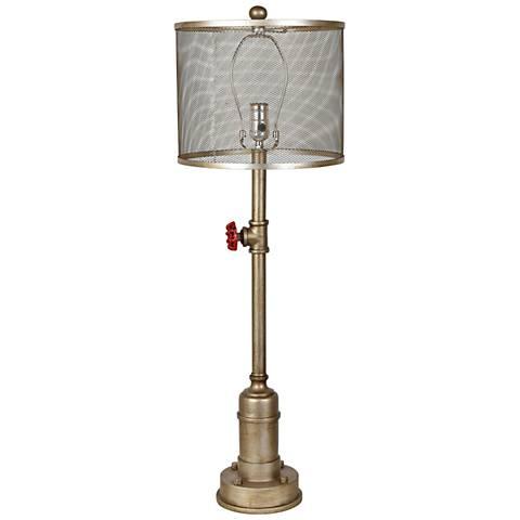 Crestview Collection Thoreau Antique Silver Metal Table Lamp