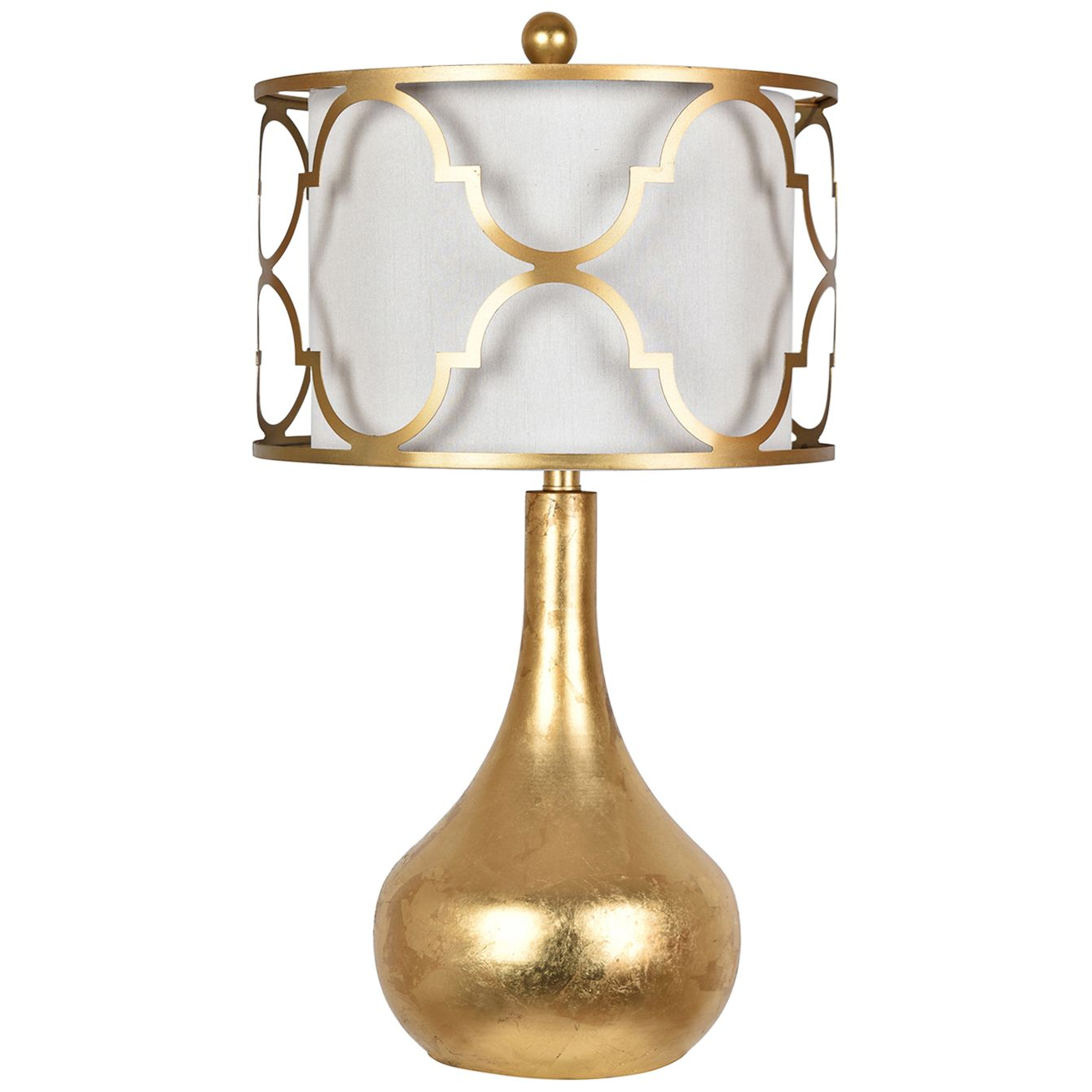 Crestview Collection Calandra Gold Leaf Metal Table Lamp