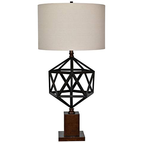 Crestview Collection Devon Black Table Lamp