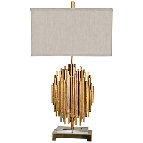 Crestview Collection Galveston Gold Metal Table Lamp