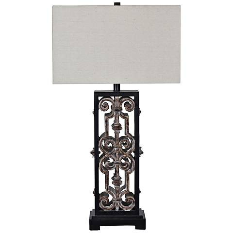 Crestview Collection Stinson Black and Gray Table Lamp