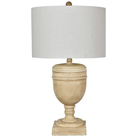 Crestview Collection Galton Antique Cream Table Lamp