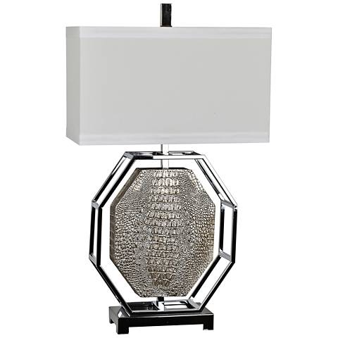 Crestview Collection Maxwell Antique Silver Table Lamp