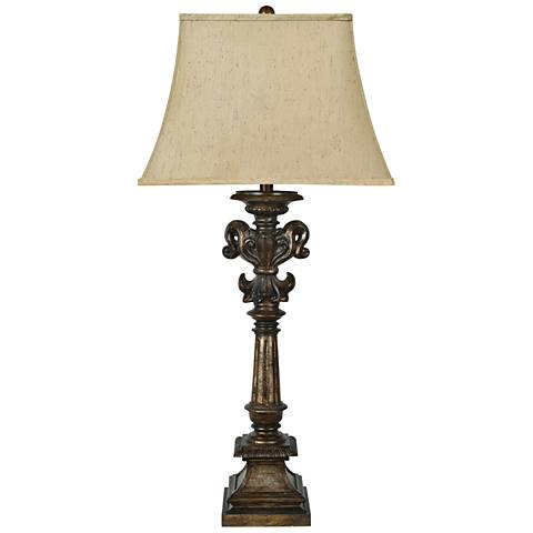 Crestview Collection Cumberland Antique Brown Table Lamp