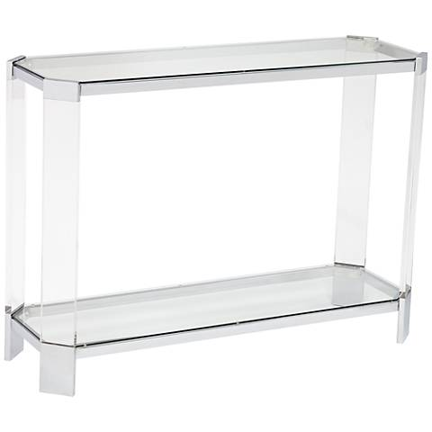 Mercer Chrome and Glass Modern Console Table