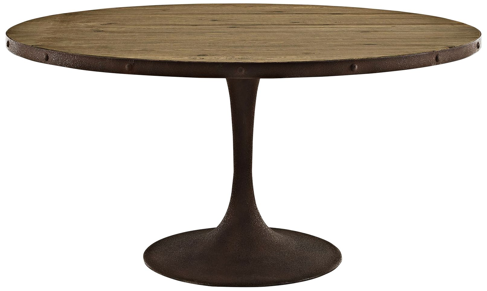 drive brown large round dining table
