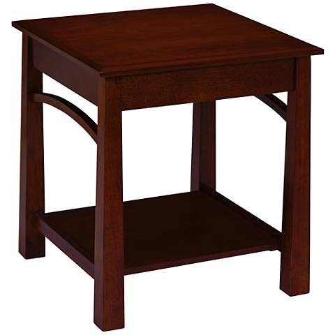 San fernando 20 wide espresso side table 33t60 lamps for Wide side table