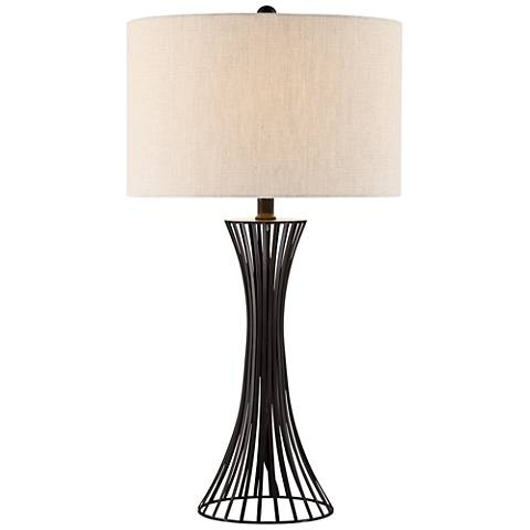 Lite Source Efton Matte Black Metal Table Lamp