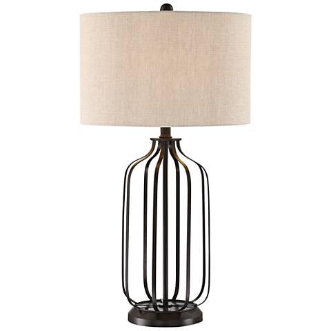 Lite Source Blaine Matte Black Metal Table Lamp