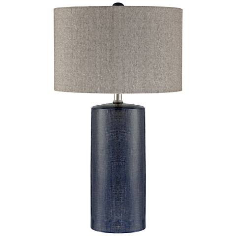 Lite Source Jacoby Navy Blue Ceramic Table Lamp