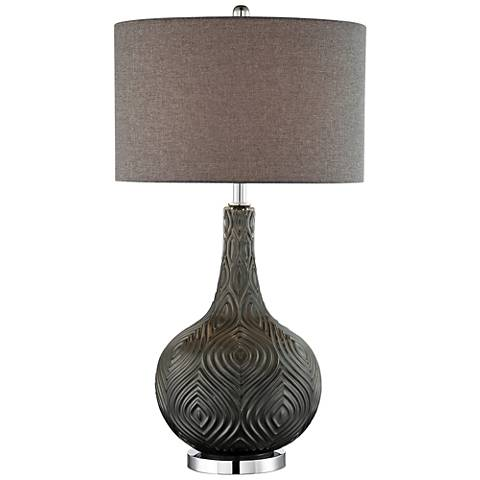 Lite Source Dylan Metallic Gray Glass Table Lamp