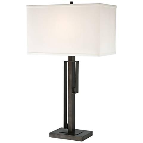 Lite Source Kurtis Brushed Black Metal Table Lamp