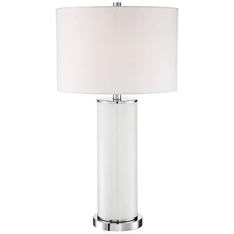 Lite Source Gordon Gliter White Glass Table Lamp