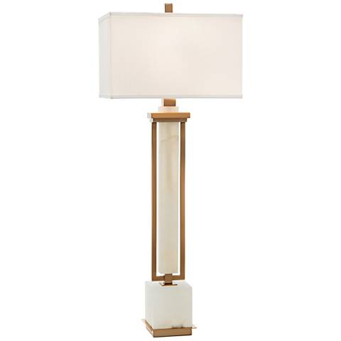 John Richard Honne Gold and White Alabaster Buffet Lamp