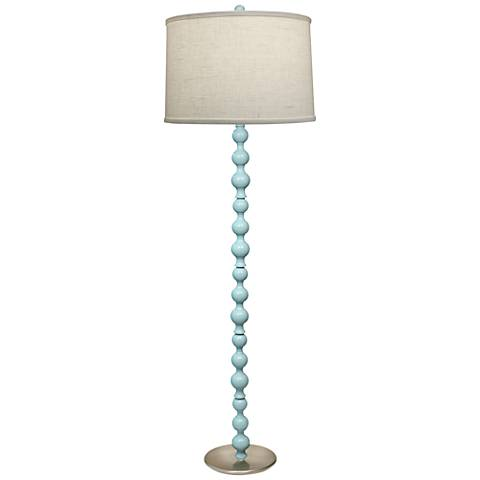 Stiffel Charlotte Gloss Light Blue Metal Floor Lamp