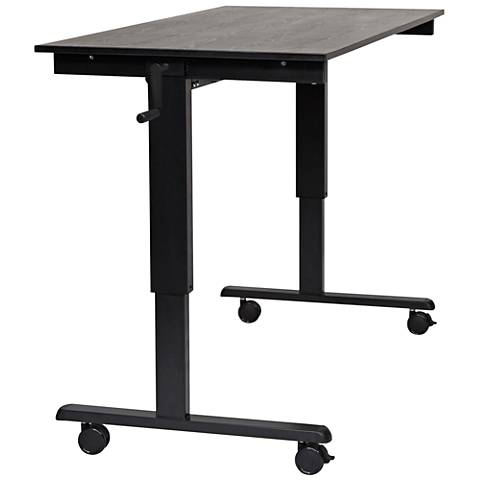 Upas Black Large Crank Adjustable Stand Up Desk