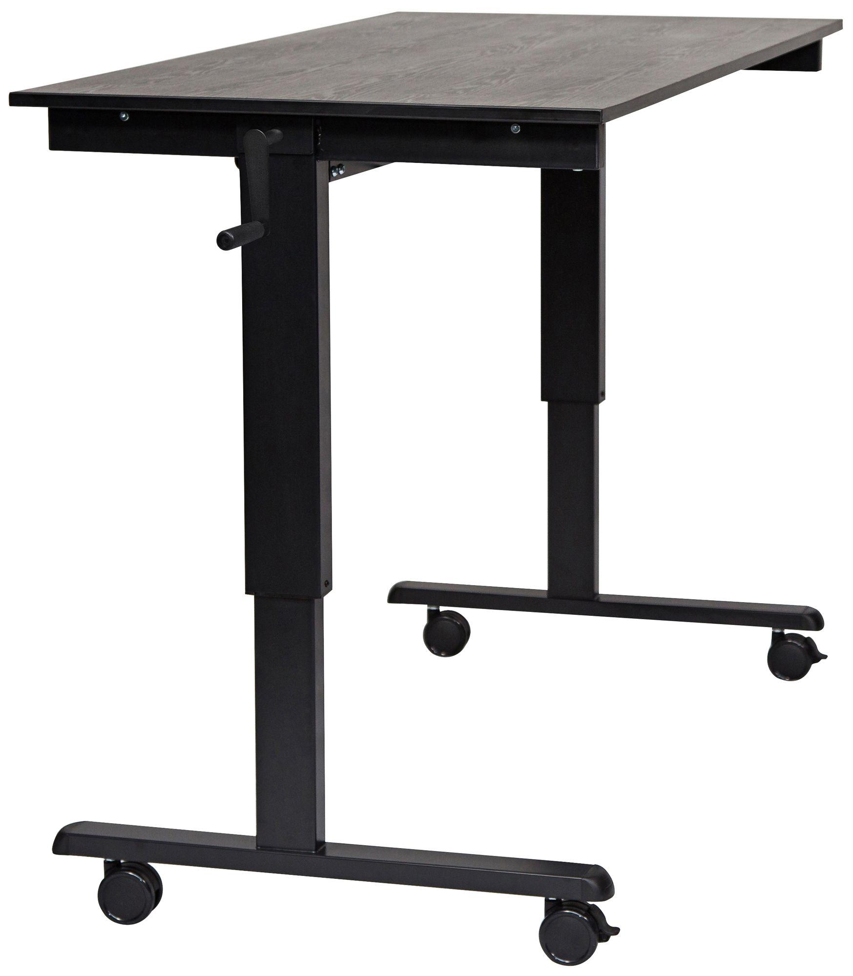 upas black large crank adjustable stand up desk