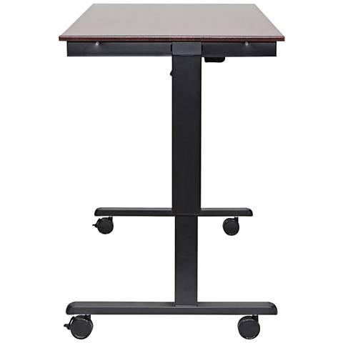 Upas Black and Dark Walnut Large Electric Standing Desk