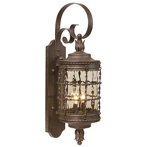 "Mallorca Collection 28 5/8"" High Vintage Rust Outdoor  Light"