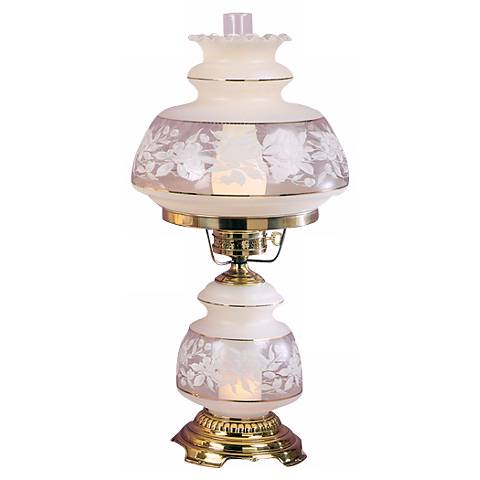 Quoizel Clear Frosted French Gold Grand Hurricane Table Lamp
