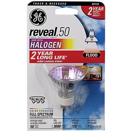 GE Reveal 50 Watt GU10 Halogen Light Bulb