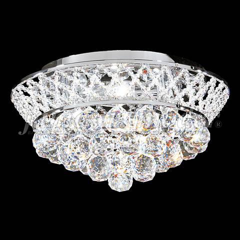 """James Moder Jacqueline 15"""" Wide Silver Crystal Ceiling Light"""