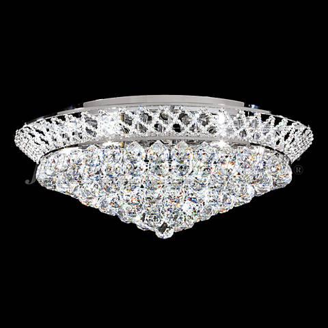 """James Moder Jacqueline 26"""" Wide Silver Crystal Ceiling Light"""