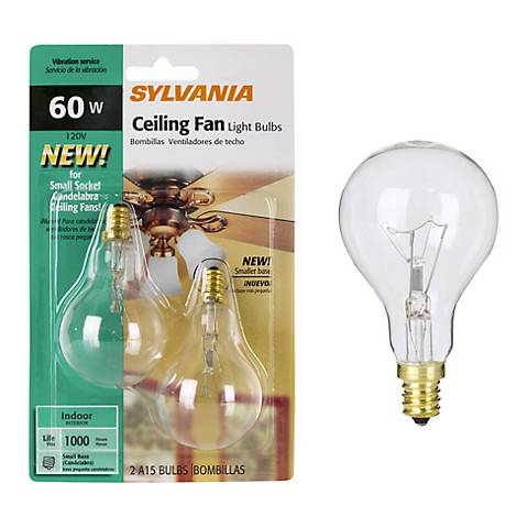 Sylvania 2 Pack 60 Watt A15 Ceiling Fan Light Bulbs
