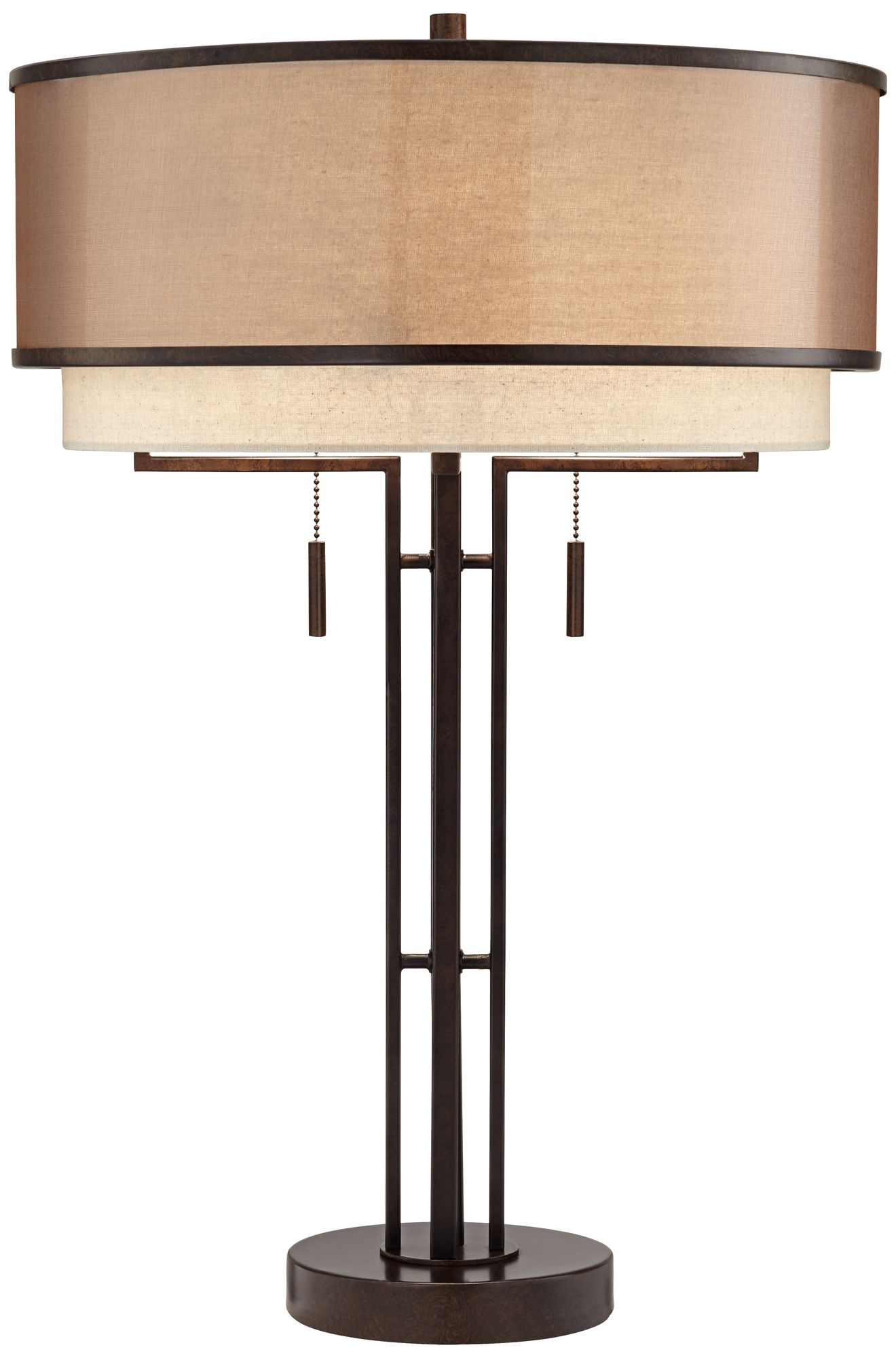 andes double shade industrial table lamp