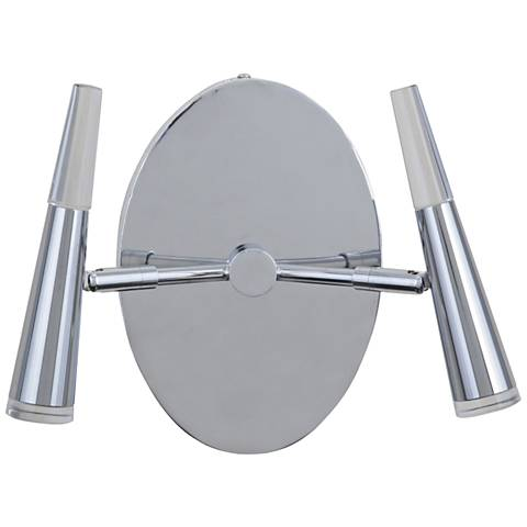 "Craftmade Vanguard 8"" High Chrome 2-LED Wall Sconce"