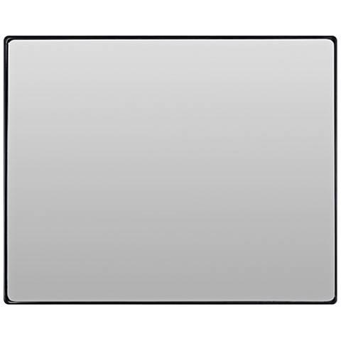 "Varaluz Casa Jonah Black 32"" x 30"" Rectangular Wall Mirror"