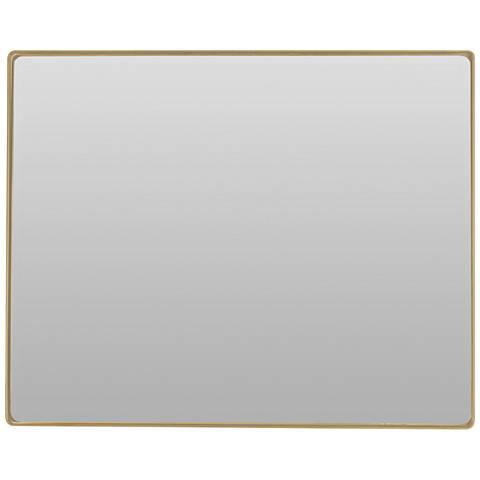 """Varaluz Casa Jonah Gold 32"""" x 30"""" Rectangular Wall Mirror"""