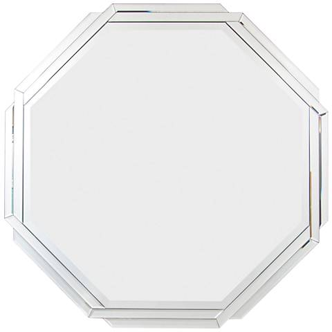 "Varaluz Casa Zoe Mirrored 34 1/4"" Octagonal Wall Mirror"