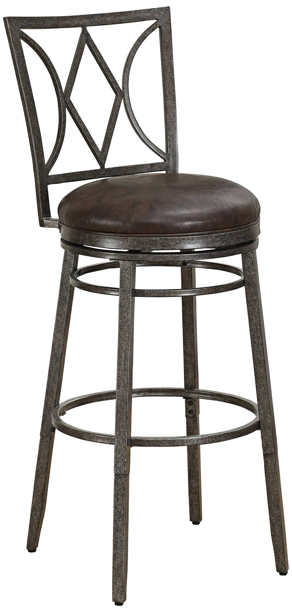 Brooke 30 Quot Gray Bonded Leather Barstool 7w901 Lamps Plus