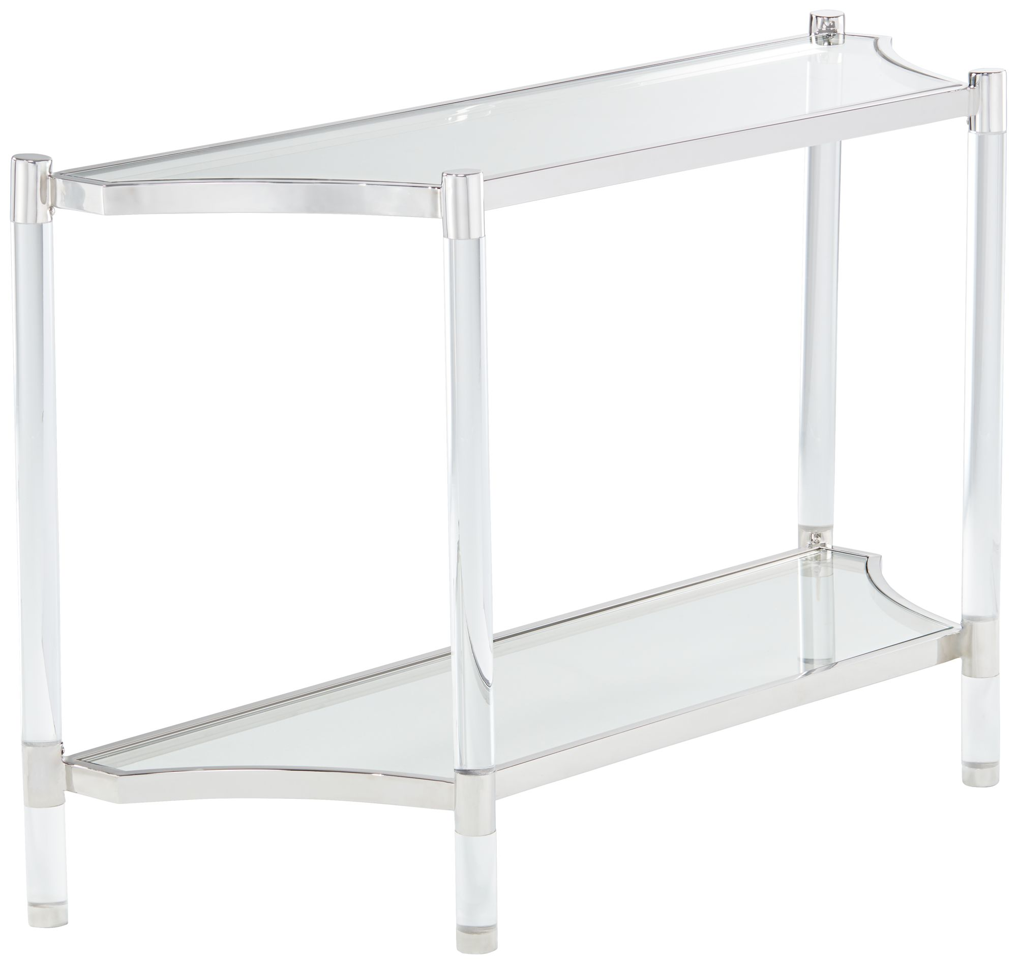 Acrylic console table acrylic console table singapore amazon erica clear acrylic console table geotapseo Gallery