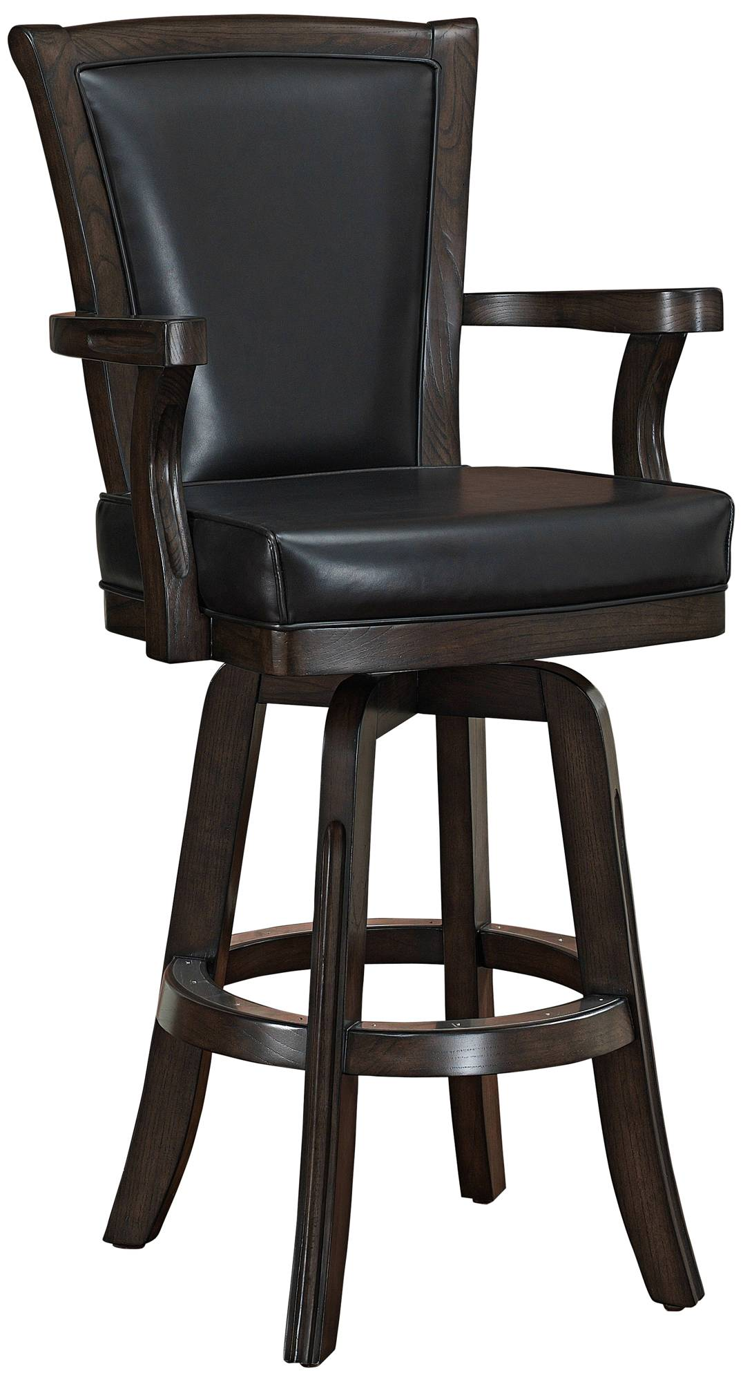 Hartley 30 Quot Wood And Bronze Metal Swivel Barstool 4v936