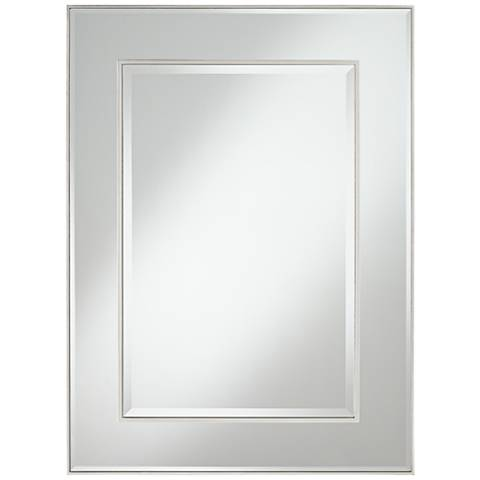 """Lane Silver Stacked Dimensional Center 30"""" x 40"""" Mirror"""